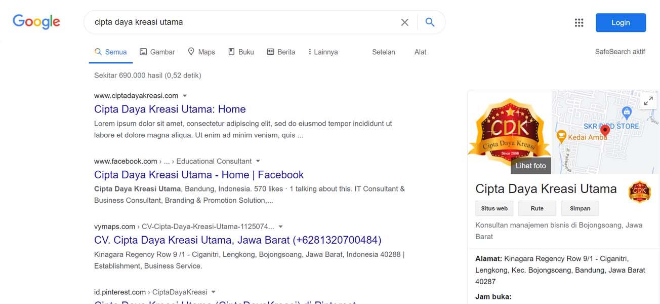 Cipta Daya Kreasi Utama - Jasa Pendaftaran Usaha dan Optimasi di Google Bisnis Maps