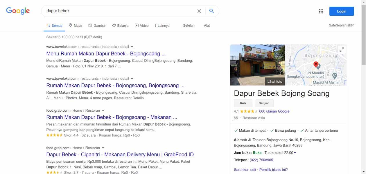 Dapur Bebek - Jasa Pendaftaran Usaha dan Optimasi di Google Bisnis Maps