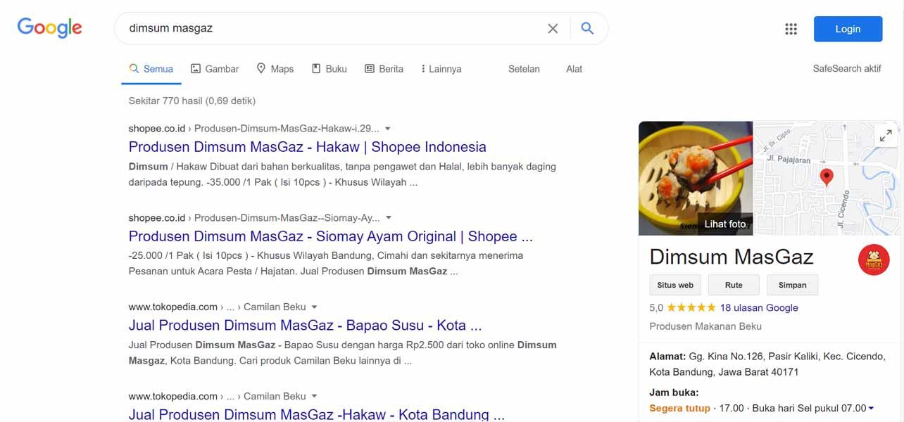 Dimsum MasGaz - Jasa Pendaftaran Usaha dan Optimasi di Google Bisnis Maps