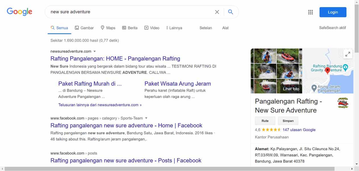 New Sure Adventure - Jasa Pendaftaran Usaha dan Optimasi di Google Bisnis Maps