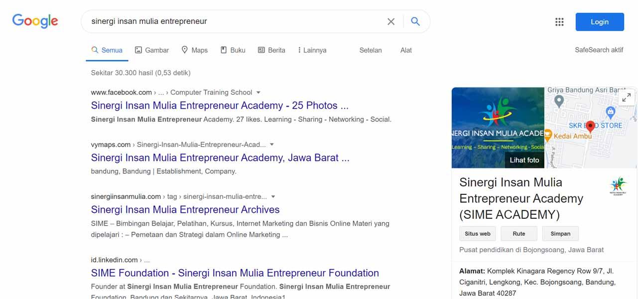 SIME ACADEMY - Jasa Pendaftaran Usaha dan Optimasi di Google Bisnis Maps