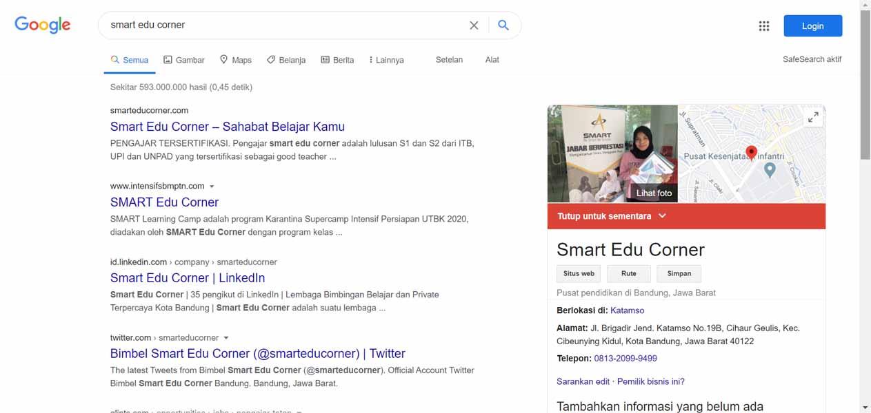 Smart EduCorner - Jasa Pendaftaran Usaha dan Optimasi di Google Bisnis Maps