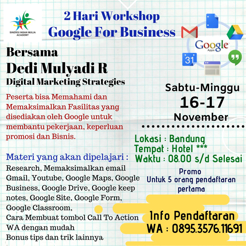 Workshop Google for Business