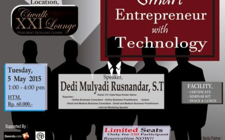 seminar smart entrepreneur with technology - unikom, dedi mulyadi rusnandar