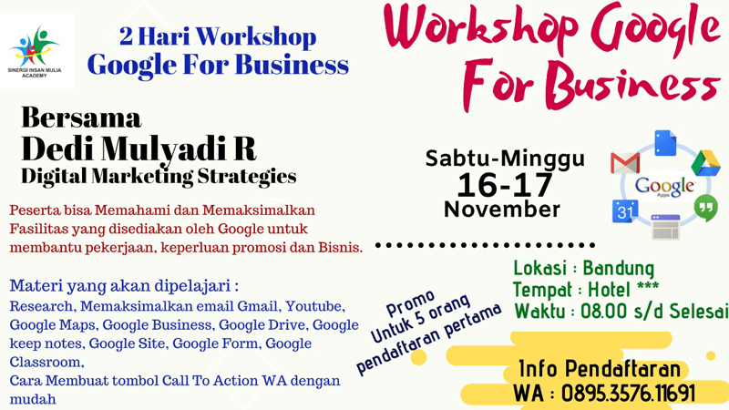 Pelatihan / Training Google for Business